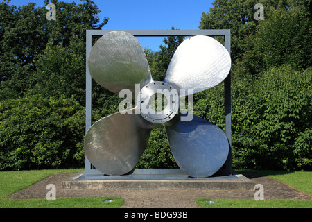 D-Essen, Ruhr area, North Rhine-Westphalia, D-Essen-Bredeney, Friedrich Alfred Krupp, ships propeller, manufactured - Stock Photo