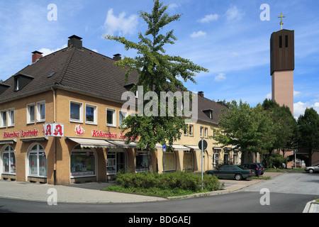 Route der Industriekultur, Friedrich Alfred Krupp, Arbeitersiedlung, Kruppsiedlung Heimaterde in Muelheim-Heissen, - Stock Photo
