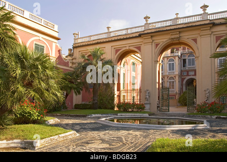 Palazzo Reale in Genua in Liguria, North West Italy. - Stock Photo