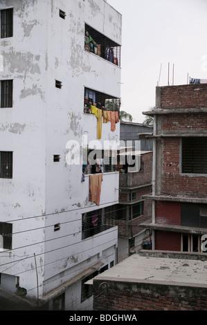 Apartment building Dhaka Bangladesh - Stock Photo