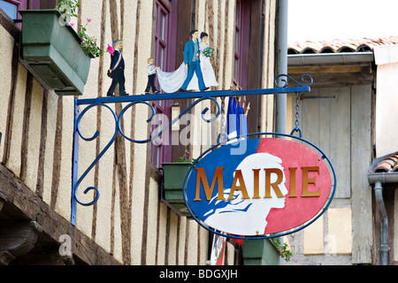 Hotel de Ville, Mirepoix - Stock Photo