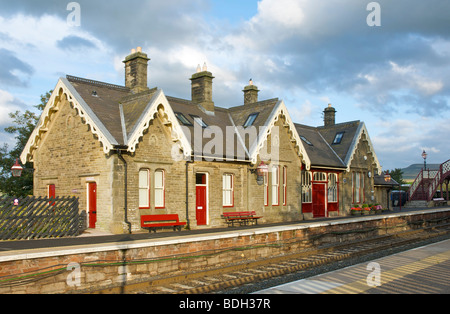 Kirkby Stephen railway station on the Settle-Carlisle line, Cumbria, England UK - Stock Photo