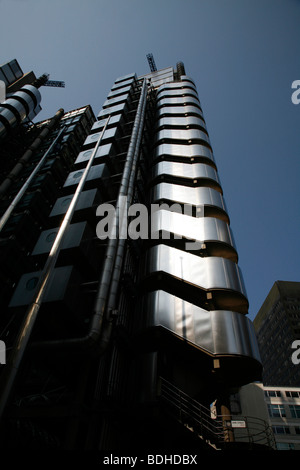 Lloyds Building in Lime Street, City of London, UK - Stock Photo