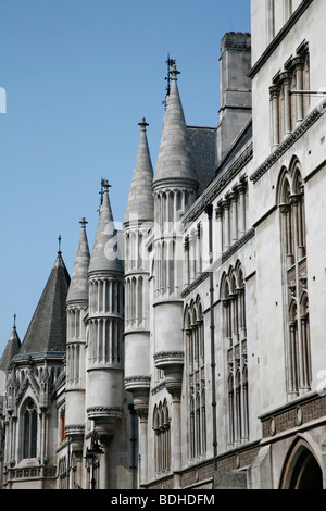 Royal Courts of Justice (Law Courts) on The Strand, London, UK - Stock Photo