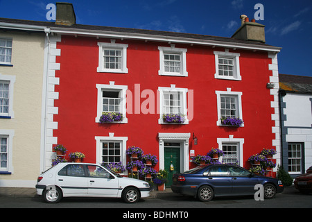 A popular and colourful Bed and Breakfast hotel overlooking the harbour in Aberaeron, Ceredigion, West Wales, UK