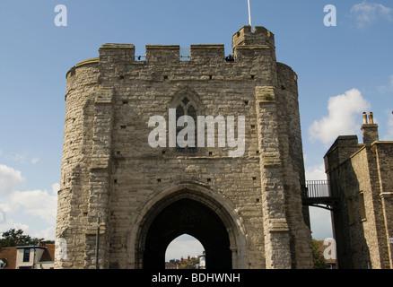 The West Gate Canterbury Kent England Uk - Stock Photo