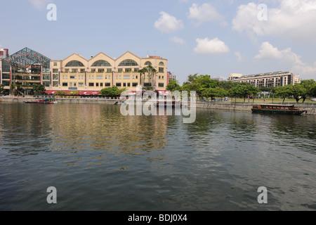 Riverside Point, Singapore River, Singapore - Stock Photo