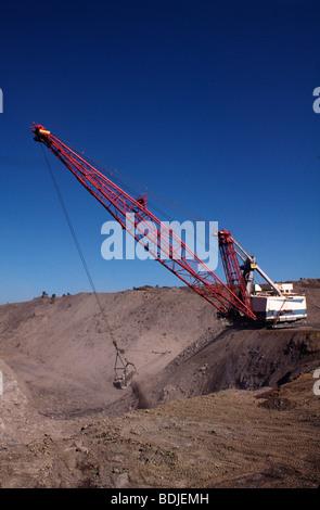 Black Coal Mining, Removing Overburden, Open Cut Mine - Stock Photo
