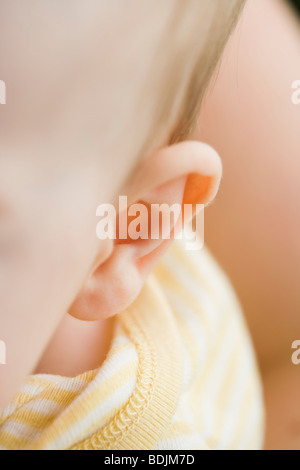 Close-up of Baby's Ear - Stock Photo