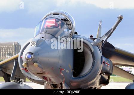 A British Aerospace Harrier GR7 Cockpit - Stock Photo