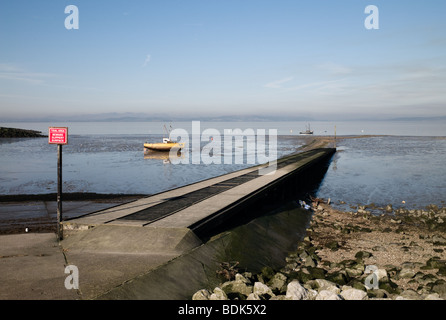 A jetty in the Lancashire seaside resort of Morecambe - Stock Photo
