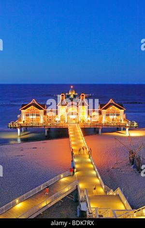 Sellin Pier, Ruegen Island, Baltic Sea Coast, Northern Germany - Stock Photo