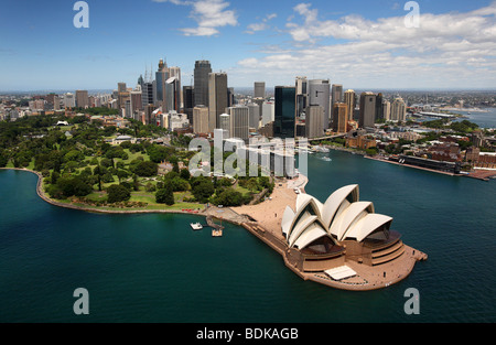Sydney Harbour Australia aerial - Stock Photo