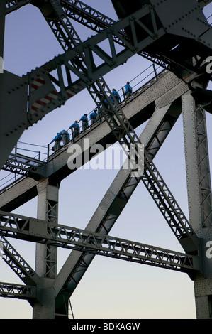 Brisbane Story Bridge climbers Australia - Stock Photo