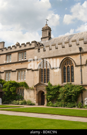 View of the exterior of the chapel, Jesus College Oxford England UK - Stock Photo