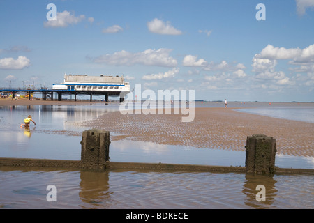 Cleethorpes on the Lincolnshire coast - Stock Photo