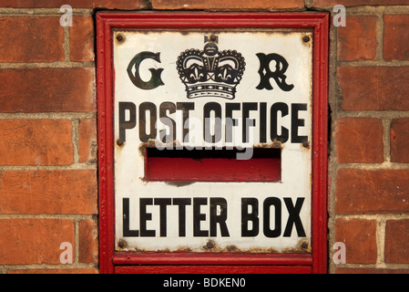 old post box letter box - Stock Photo