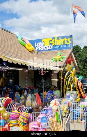Cape Cod beach apparel store in Eastham, Cape Cod USA - Stock Photo
