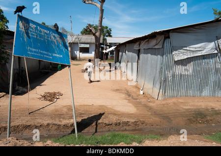 IDP  Internally displaced people resettlement Camp Sri Lanka - Stock Photo