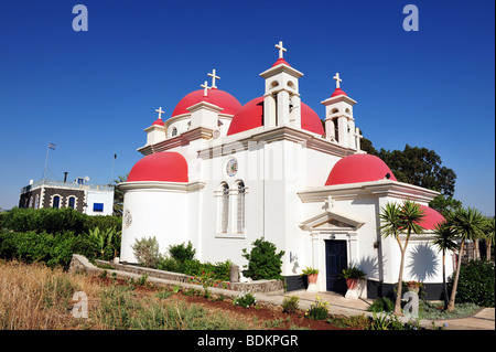 The Greek Orthodox Church Of The Twelve Apostles In Capernaum - Stock Photo
