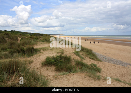 Omaha beach, one of the D-Day landing beaches used during the Allied invasion on 6 June 1944 Colleville-sur-Mer, - Stock Photo