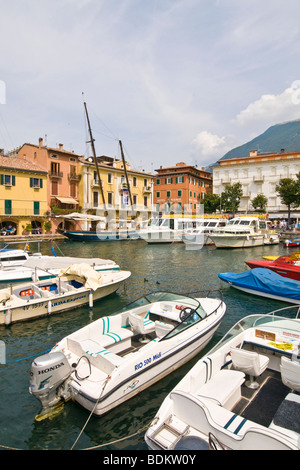 Malcesine, Garda lake, Province of Verona, Italy - Stock Photo