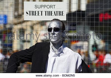 Mime Artist, Edinburgh festival Scotland - Stock Photo