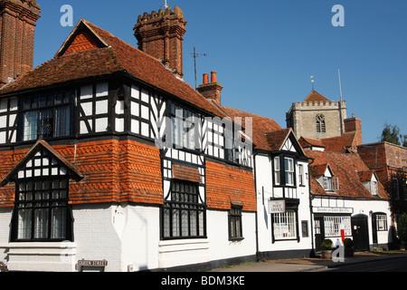 Tudor house, [Dorchester on Thames] [High Street], Oxfordshire, England, UK - Stock Photo