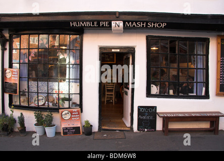 Humble Pie 'n' Mash shop, Old Town, Whitby, North Yorkshire, England, UK - Stock Photo