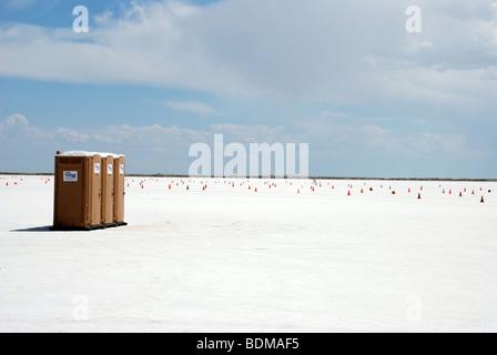Bonneville Salt Flats, Utah, USA, - Stock Photo