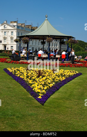 The bandstand in Crescent Gardens Filey North Yorkshire England UK United Kingdom GB Great Britain - Stock Photo