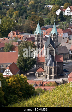 Freyburg/Unstrut, Blick vom Edelacker auf die Stadtkirche