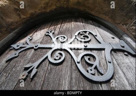 Old Ornate Church Door Hinge Stock Photo 88504348 Alamy