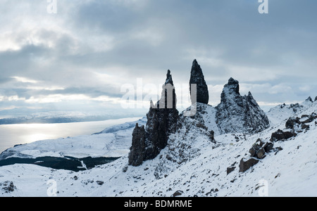 Old Man of Storr, Storr Rocks, Isle of Skye, Inner Hebrides, Scotland, UK - Stock Photo