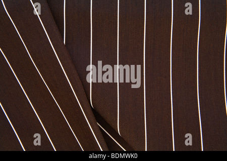 brown pinstriped fabric - Stock Photo