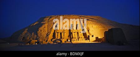 Temple of Pharaoh Ramses II, Abu Simbel, Nubia, Egypt, Africa - Stock Photo