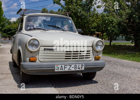 Trabant, the emblematic little car symbolizing the end of the German Democratic Republic - Stock Photo