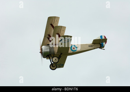 Sopwith Triplane replica at Dunsfold Wings and Wheels 2009 - Stock Photo