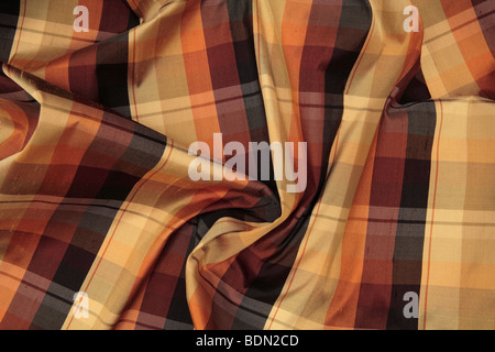 Plaid Silk - Stock Photo