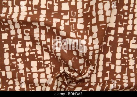Abstract brown and cream print - Stock Photo