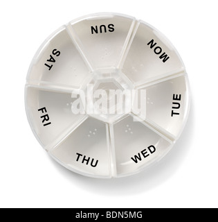 Empty pillbox - Stock Photo