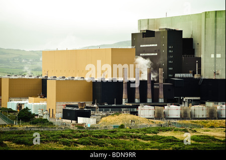 The Wylfa atomic nuclear power station, on the northern coastline of Anglesey, north Wales UK - Stock Photo