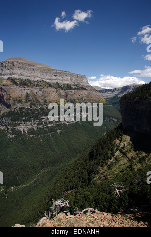 The National Park of Ordesa and Monte Perdido in the Spanish Pyrenees - Stock Photo