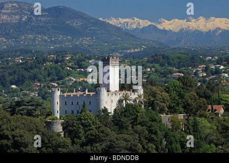 The castel of Villeneuve Loubet Alpes-MAritimes 06 PACA Cote d'azur French Riviera France Europe - Stock Photo