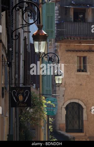 Street of the village Villeneuve Loubet Alpes-MAritimes 06 PACA Cote d'azur French Riviera France Europe - Stock Photo