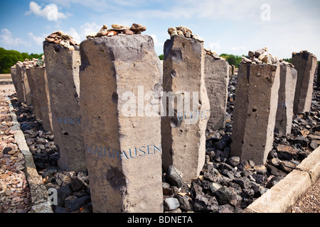 Memorial to the Roma and Sinti people murdered at Buchenwald Nazi Concentration Camp, Ettersberg, Germany, Europe - Stock Photo