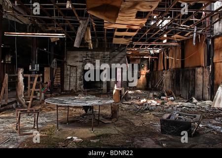 A derelict room - Stock Photo
