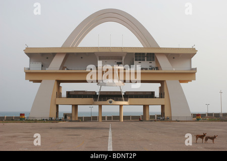 Independence Arch in Independence Square also known as Black Star square. Central Accra. Ghana. West Africa - Stock Photo