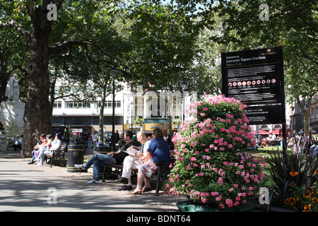 Leicester Square Gardens, London, England, U.K. - Stock Photo