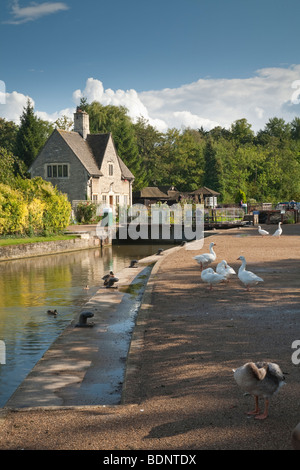 Iffley Lock on the River Thames at Oxford, Oxfordshire, Uk - Stock Photo